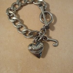 Juicy Couture Puffed Heart Toggle Bracelet